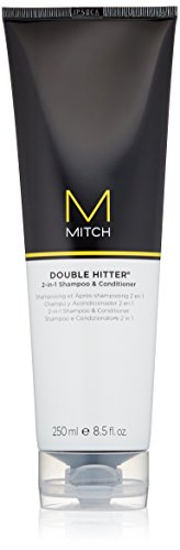 Paul Mitchell Mitch Double Hitter Sulfate-Free 2-in-1 Shampoo & Conditioner,  1er Pack (1 x 250 ml)