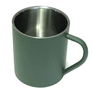 A.Blöchl Field cup olive or chrome colors in various sizes box cup drinking cup stainless steel (Olive, 0.35 Liter)