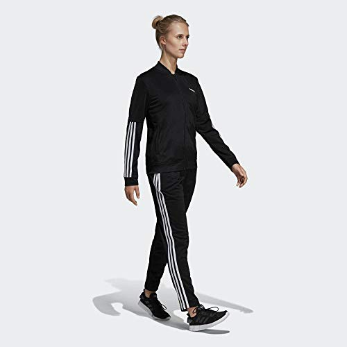 adidas Damen WTS BACK2BAS 3S Tracksuit, Black/White, XL