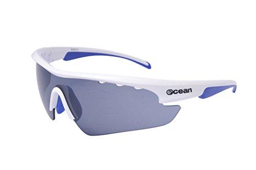 Ocean Sunglasses Ironman - Gafas Sol- Montura : Blanca/Azul