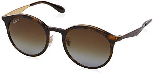 RAYBAN JUNIOR Unisex-Erwachsene Sonnenbrille Emma Light Havana/Lightgreygradientbrownpola, 51