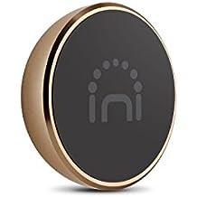 Universal Halterung, Spinido® TI-Coins Universal Aluminium Magnetische Halterung, geeignet für meistens Smartphones und andere Kleingeräte (Format: Runde Gold )