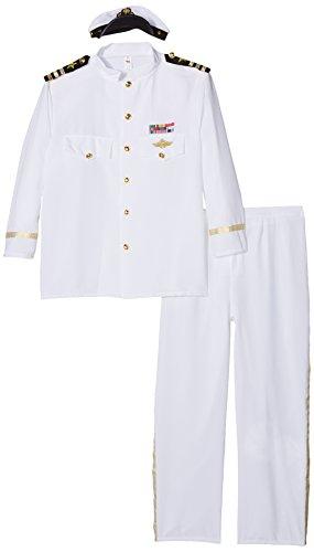 Smiffys, Herren Kapitän Deluxe Kostüm, Jackett, Hose, Mütze und Handschuhe, Größe: XL, (Kapitäne Kostüme)