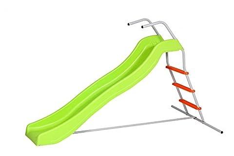 SportPlus Wellenrutsche, Rutschlänge ca. 177cm, Spielzeugsicherheitstest nach EN71, Modell 2017, (Smoby Kletterturm)