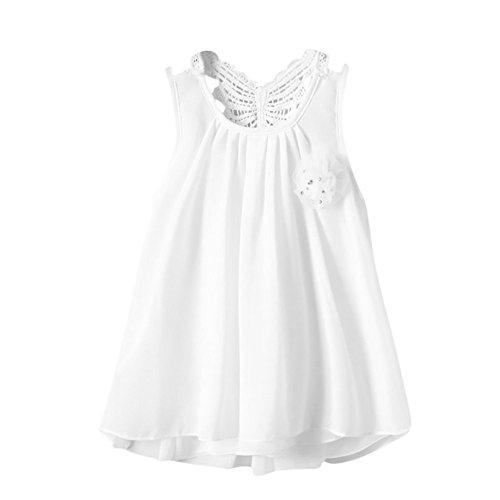 JUTOO Neugeborene Kleinkind-Baby-Mädchen-Normallack-Blumen-Schmetterlings-rückenfreie beiläufige Kleid-Kleidung ()