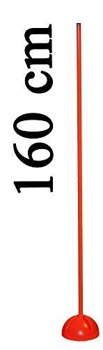 Bild von: Agility Hundesport - X-Standfuß mit Stange 160 cm, Ø 25 mm, Farbe: orange