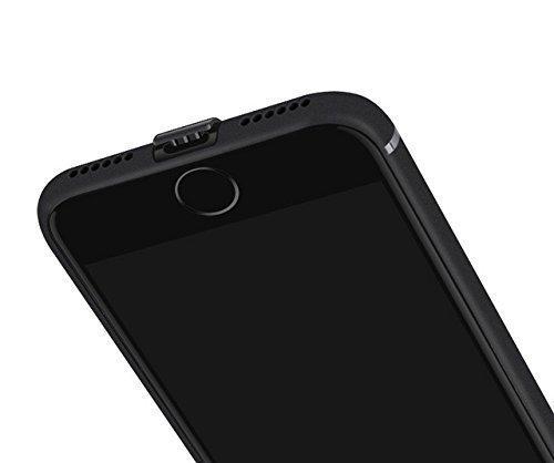 Schwarz matte iPhone 7 Silikonhülle (4,7 Zoll) mit integriertem Staubschutz Ultra-Slim (0,5mm dicke) - 2