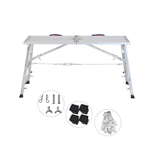 Aleación de Aluminio Multifuncional andamio de elevación Plegable Escalera portátil Escalera de Plataforma...