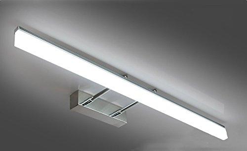 Frontspiegelleuchten Spiegelfrontlichtknopf Einziehbare kurze Länge führte Edelstahlbadezimmerwandlampenspiegelkabinettlicht einfaches modernes natürliches Licht ( Color : White-40CM-8W )