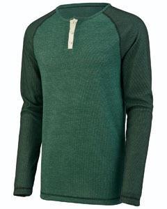 Augusta Sportswear Men'S Linear Fusion Long Sleeve Henley S Dark Green/Black ... Augusta Sportswear Henley