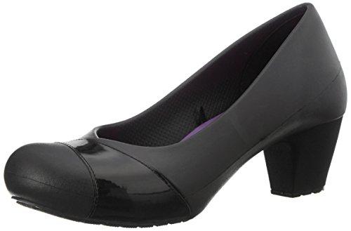 Crocs Womens Gianna Heel Kitten Pump Shoes, Black/Black, US 9