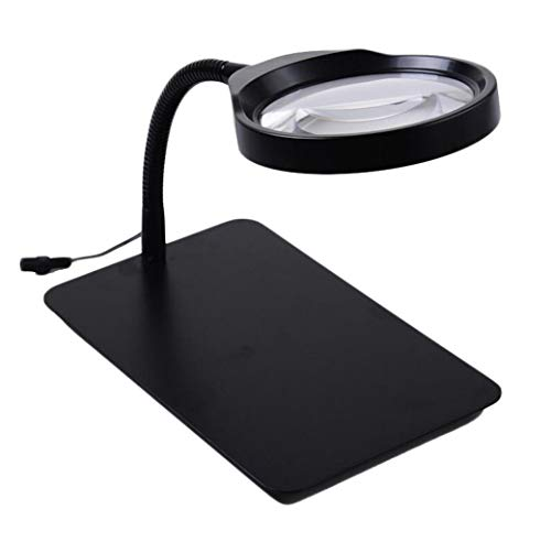 HD-Desktop-Lupe 36LED Circle Light Einstellbare Helligkeit Plug-in-Lupe