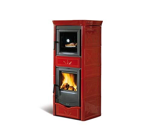 La nordica - Termonicoletta forno dsa - thermo poele a bois vec four - couleur : bordeaux
