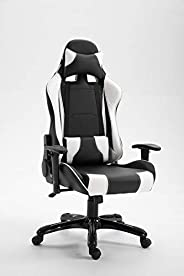 Mahmayi Gumi 09854 High Back Video Gaming Chair – PU Leatherette Upholstered Ergonomic 360 Swivel Game Chair w