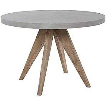 Matodi Esstisch rund D 110x75 cm Betontisch Betonmöbel Gartentisch ...