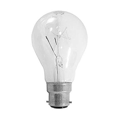 10 X 100 WATT CLEAR LIGHT BULB BC BULBS by MAXIM / Status / AA from Status
