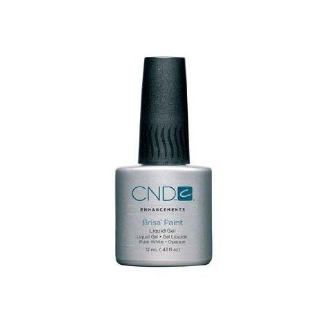 Creative Nail Design Brisa Paint – Gel Liquide – Pure White Opaque .43oz