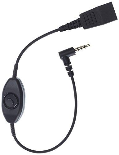 Jabra-Kabel Quick-Disconnect QD auf 3,5-mm-Klinkenstecker mit Push-to-Talk-Funktion für Smartphones -