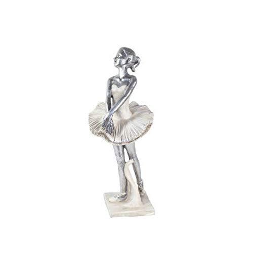 CAPRILO Decorative Figure Ballerina Ballet Resin. Ornaments and Sculptures. Home Decoration. Original gifts. 26 x 10 x 10 cm.