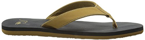 Quiksilver Molokai Deluxe - Tongs pour homme AQYL100050 Beige - Tan - Solid