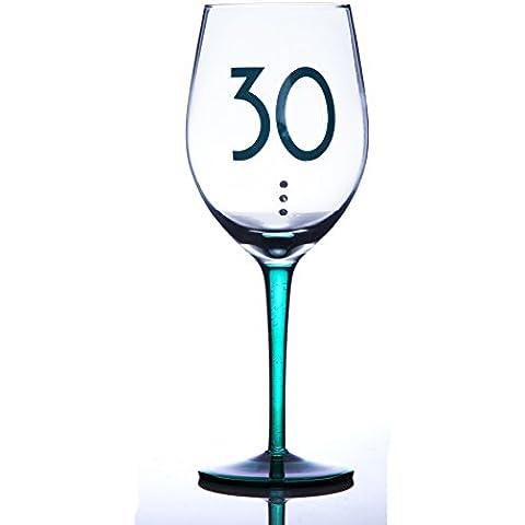 Personalizzato BOXER 30Calice da vino Compleanno in Confezione Regalo Aggiungi il tuo messaggio personalizzato