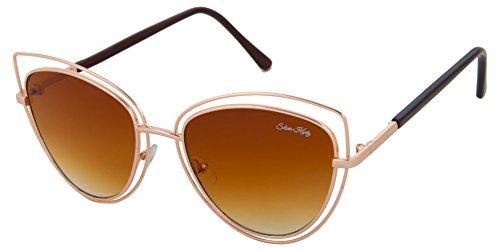 Silver Kartz UV Protected Cat-Eye Women Sunglasses - (wc218|55|Brown)