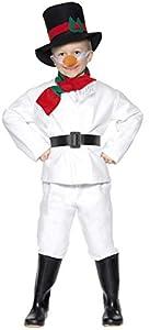Smiffys-30056M Disfraz de muñeco de Nieve, con Parte de Arriba, pantalón, Gorro, bufand, Color Blanco, M-Edad 7-9 años (Smiffy