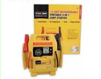 Am-Tech 3 In 1 12V Portable Jump Start With Air Compressor **New Improved Battery**