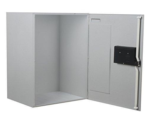 BURG-WÄCHTER Paketbox vor dem Haus für den Empfang und Versand von Paketen Zuhause, Elektronisches Öffnungs- und Schließsystem, eBoxx mit ParcelLock-System, GV 644, Silber - 3