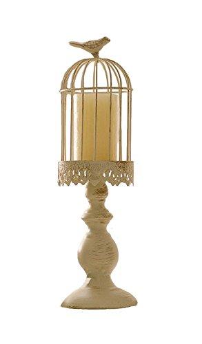 Elegantes warving weiß Birdcage Kerzenhalter für Hochzeit Home Decor, metall, weiß, M
