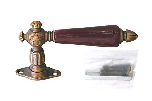 Graf von Gerlitzen Luxusgriffe Messing Gründerzeit Fenster Griff Fenstergriff Olive Fensterolive FEAR