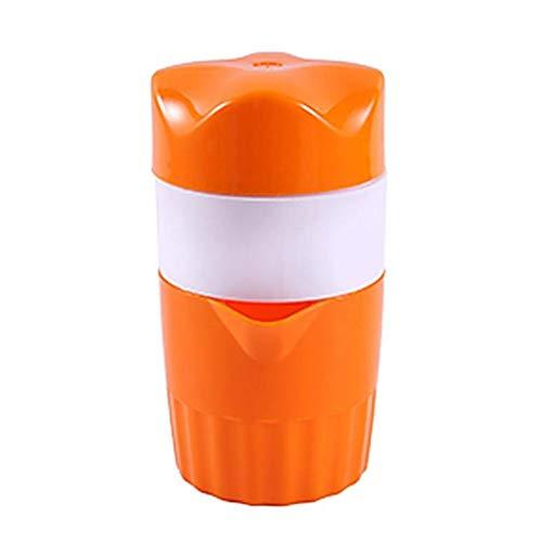 Haushalt Portable 300Ml Manual Lemon Juicer Mini Strawberry Orange Citrus Fruit Squeezer Fruit Coffee Cup,Orange