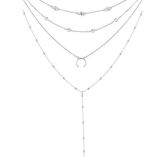 UINGKID Damen Halskette Anhänger SchmuckBoho Choker Halsketten & Anhänger Vintage Elefant Mond Maxi Neckaces Für Frauen - Punk-werkzeug-gürtel