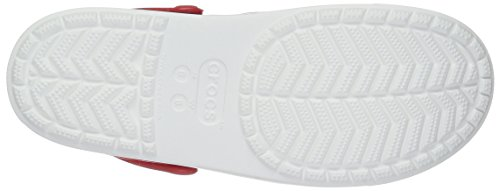 Crocs Citilane Clog Flm/Whi, Sabots Mixte Adulte Rouge (Flame/White)