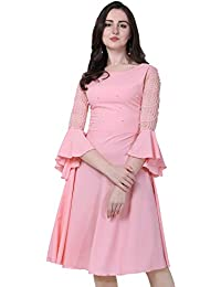 Brahmani Creation Women's A-Line Knee Length Dress