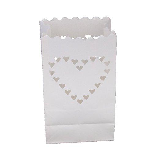 10pc Großes Herz Hochzeit Kerze Papiertüte Laterne Lampenschirm Hochzeit Pfad Dekor