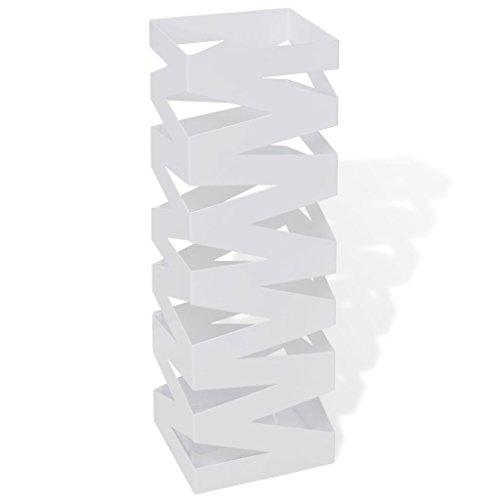 Tidyard- Schirmhalter Schirmständer Gehstock Regenschirmständer Stahl Metallständer quadratisch 48,5 cm