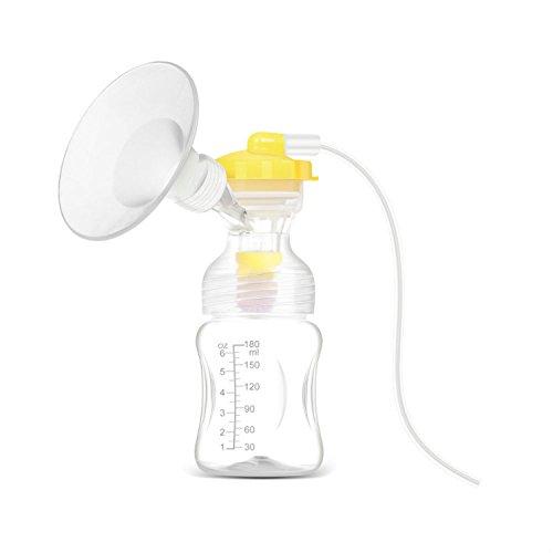 HaMeng LVB Bomba en el estilo Avanzada extractor de leche eléctrico con único chupete/unidad de motor y adaptador de CA/USB Cable Talla:ABP1801-SINGLE