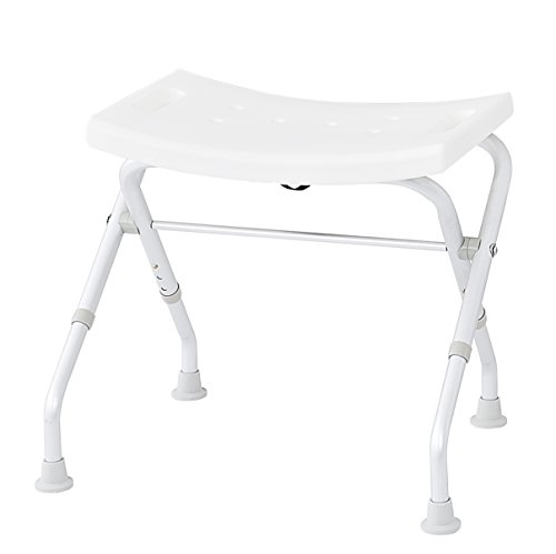 Ridder A0050301 - Taburete plegable para el baño, color blanco