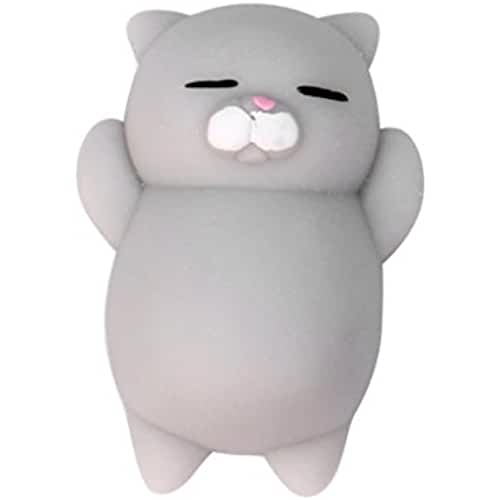 mini kawaii miniaturas kawaii WalshK Mini Squishy Mochi Squishy Cat Squeeze Curación Fun Kids Kawaii Toy Stress Reliever Decor (A)