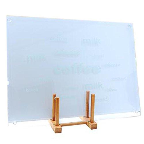Mehrfunktional Hartglas Gehärtetes Glas Schneidebrett Glasschneidebrett Schneideplatte Schneidematte Schneideunterlage Tranchierbrett Küchenbrett Cutting Chopping Board 12