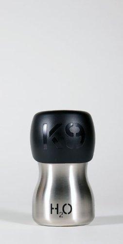 H2O4K9 SS95 Edelstahl Trinkflasche für Hunde, silber, 280 ml - 2