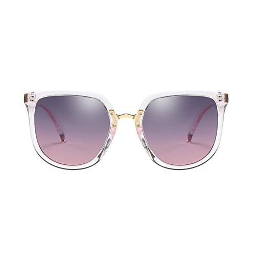 YUBIN Sonnenbrille Weibliche Gezeiten Stern Modelle Runde Gesicht Netzwerk Rote Sonnenbrille Polarisierte Licht Gläser Anti-UV-Sonnenbrille (Farbe : F)