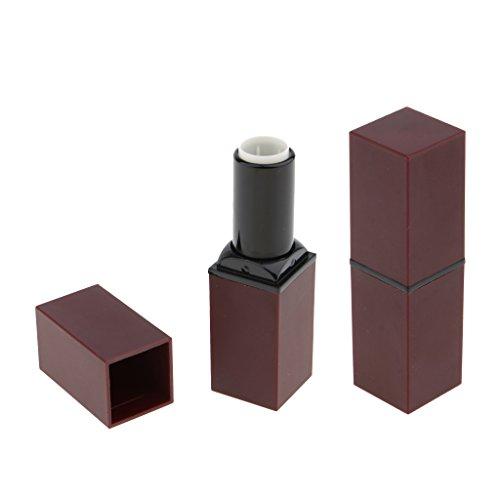 B Baosity 2 Stück Leer Lippenpflegestifte zum Selbstbefüllen, Lippenstifthülsen Lippenstift Hülse - Lila