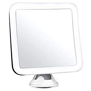 Auraglow Wireless Illuminated 10X Magnifying Shaving Makeup Beauty Bathroom Mirror with LED Light & Locking Suction Cup