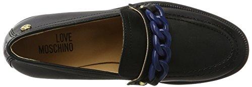 Love Moschino W.Shoe, Mocassins (Loafers) Femme Multicolore (Black/blue)