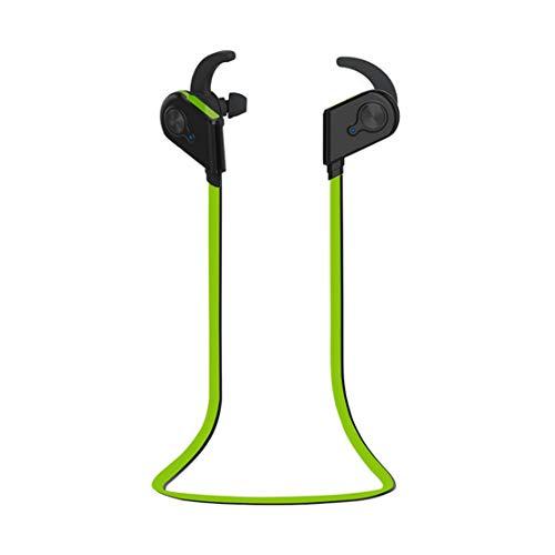 WERNG Bluetooth-Headset Drahtlose Binaurale Sport Running Hall Magnetische Stereo In-Ear Wasserdicht Und Schweißfest,Green