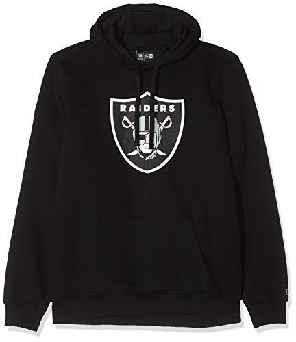 New Era Herren Kapuzenpullover NFL Team Logo PO Hoodie Oakland Raiders, Schwarz (Black), 4XL