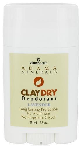 ClayDry Déodorant, Lavande, à 2,5 oz (75 ml) - Zion Santé
