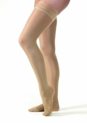 Jobst Ultra Sheer Oberschenkel geschlossen Toe Socken, seidig beige, medium